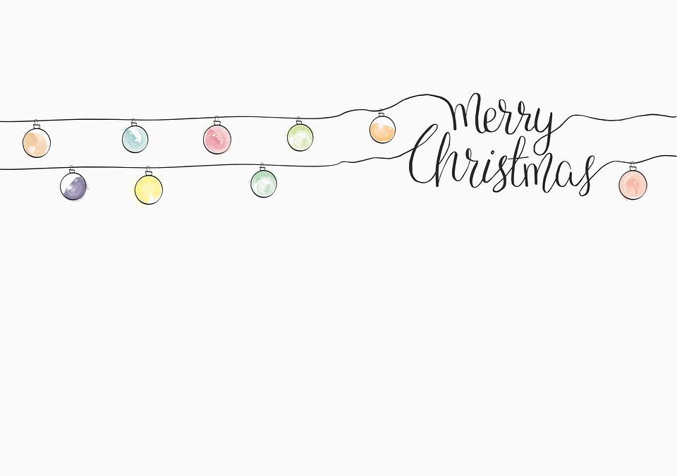 Eine herzliche Grußkarte mit der Aufschrift: Merry Christmas