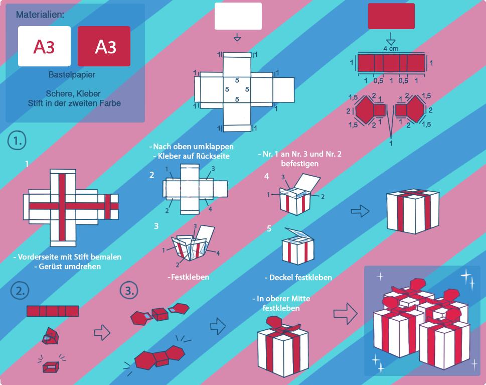 bastelanleitung weihnachtsgeschenk geschenkbox mit erwachsenen