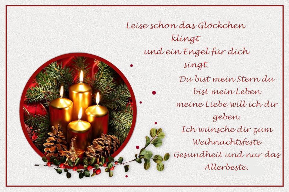 Weihnachtssüruche für Verliebte